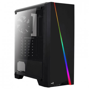 Cylon RGB Black - MT/Sans Alim/ATX | Aerocool