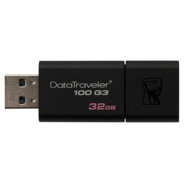Clé 32Go USB 3.0 DataTraveler 100 DT100G3/32GB | Kingston