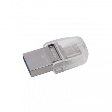 Clé 128Go USB 3.1 Type C - DTDUO3C/128GB | Kingston