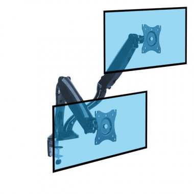 "Support de bureau Full Motion 2 écrans 13""- 27"" | Kimex International"