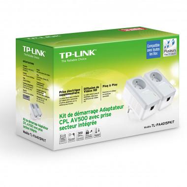 TL-PA4015PKIT (500Mb) avec prise - Pack de 2  | TP-Link